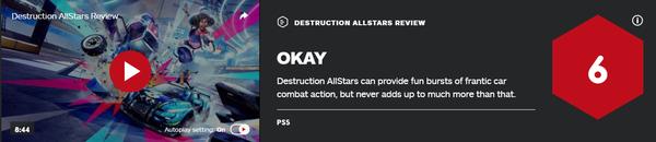 《毀滅全明星》媒體評分解禁 MC均分65 IGN 6分