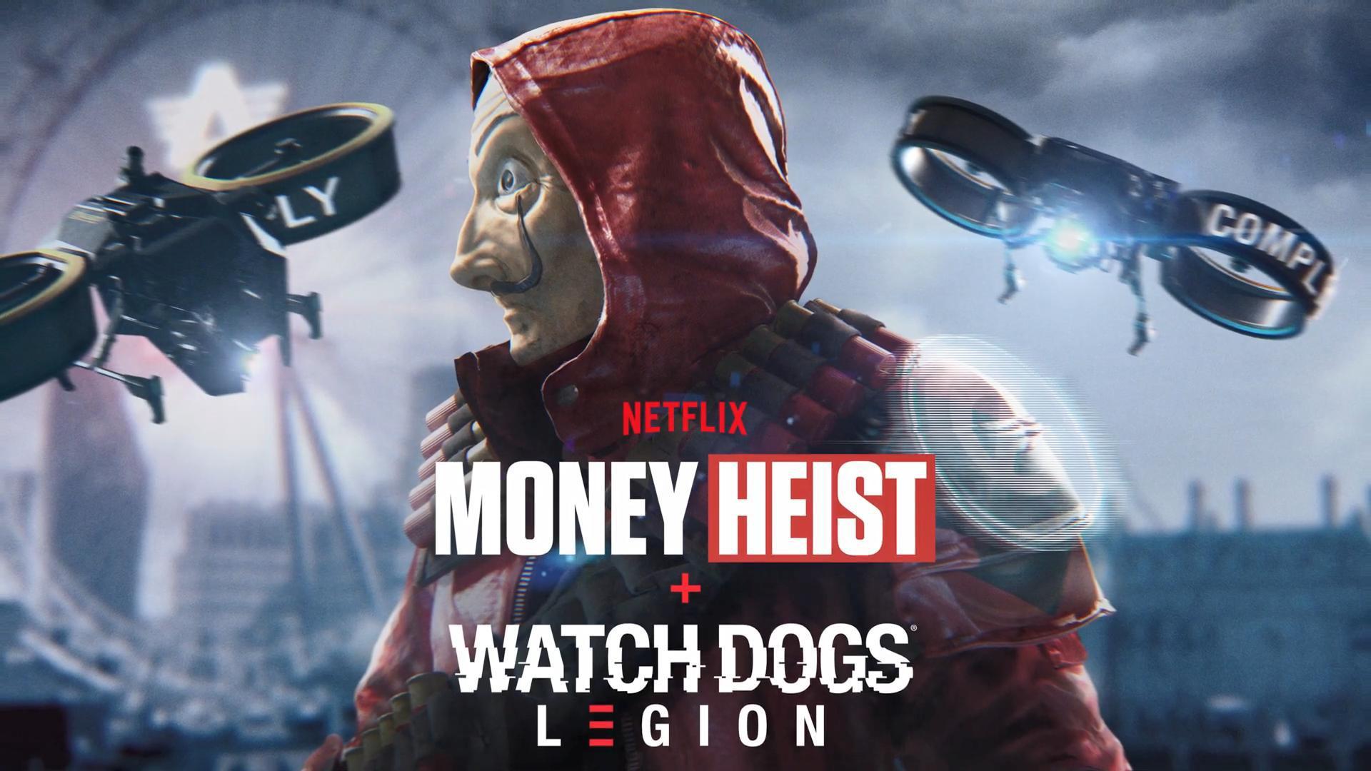 《看門狗:軍團》聯動網飛電視劇《紙鈔屋》 解鎖專屬皮膚獎勵