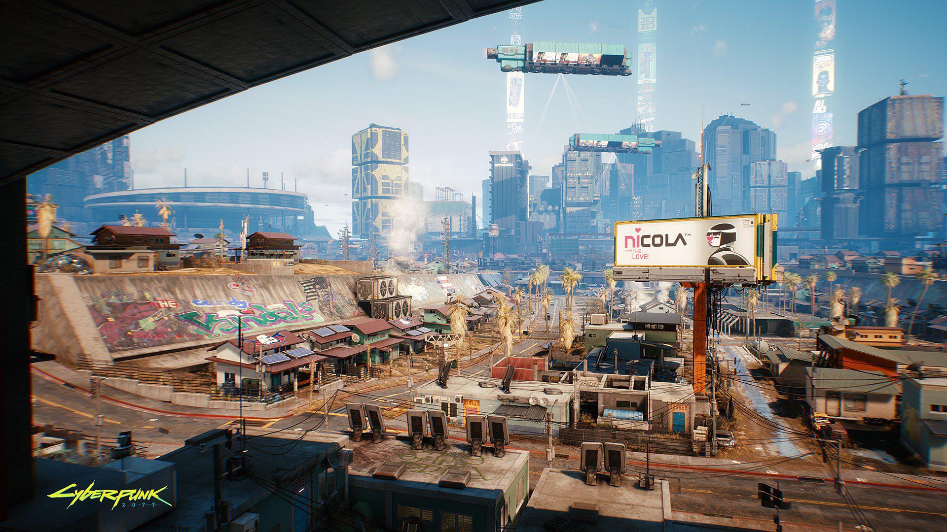 《賽博朋克2077》新場景展示 綠樹成蔭的科羅納多農場