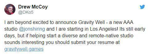 前《泰坦隕落》開發者組建新工作室Gravity Well