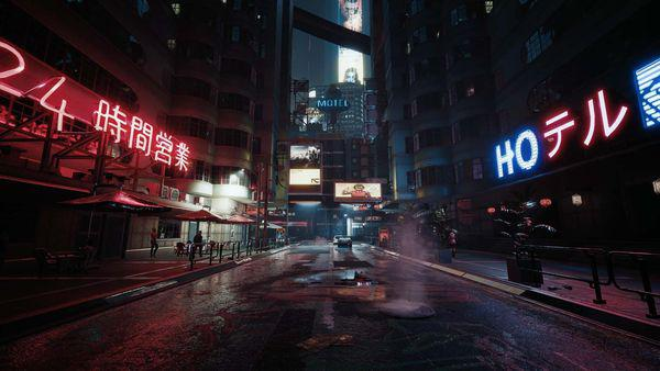 《賽博朋克2077》8K截圖公開 夜之城夜景美輪美奐