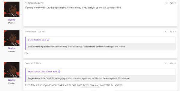 知名爆料人稱《死亡擱淺》將在PS5推出加強版