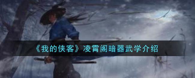 《我的俠客》凌霄閣暗器武學介紹