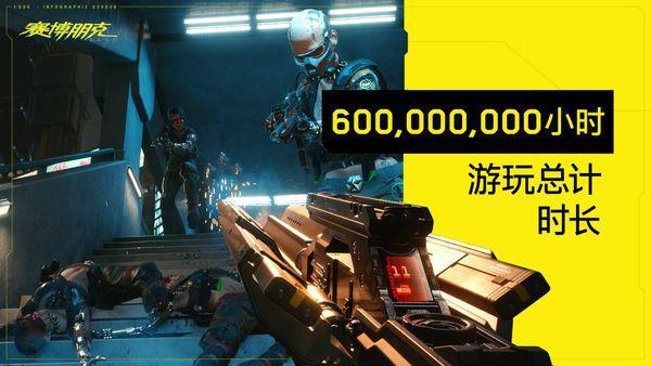 《賽博朋克2077》中玩家遊戲時間合計為七萬年