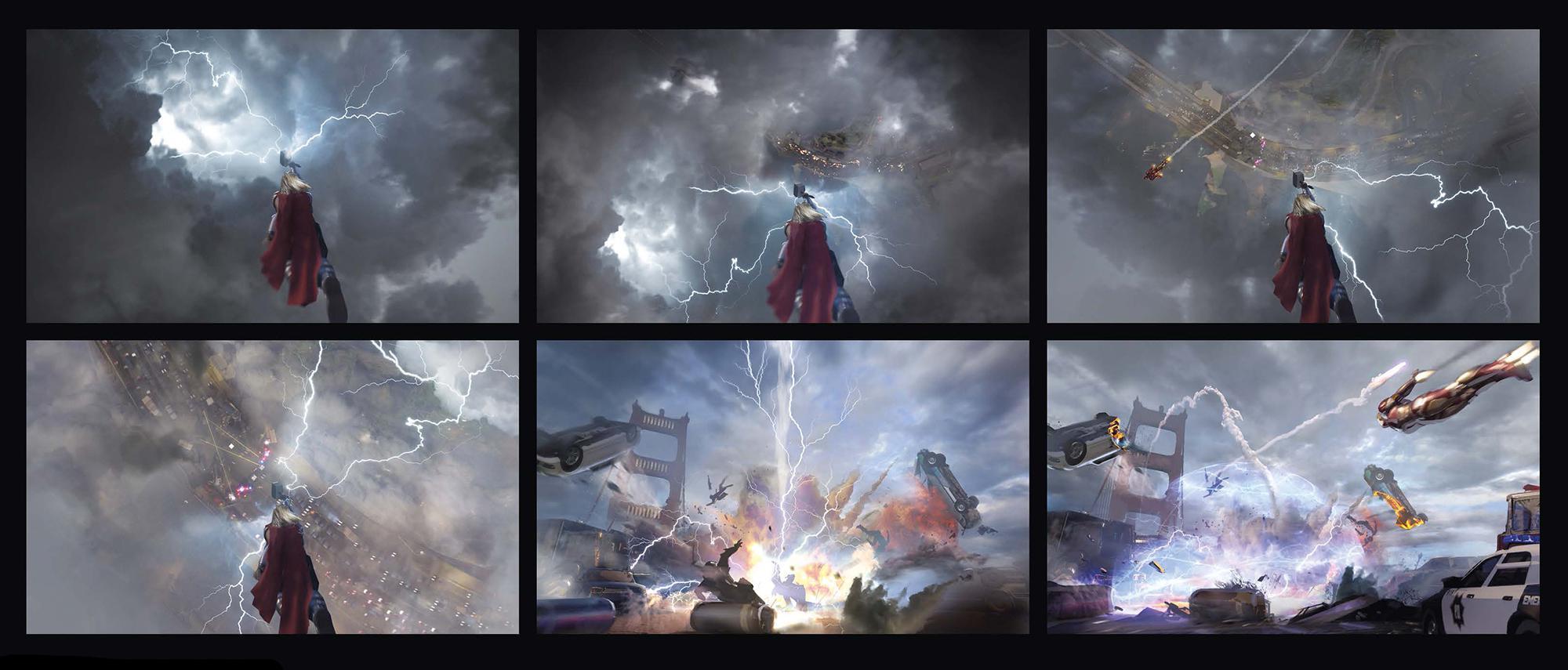 《漫威復仇者聯盟》概念原畫賞析 遊戲分鏡稿公開