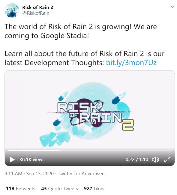 《雨中冒險2》將會有大型更新以增加對Mod支援