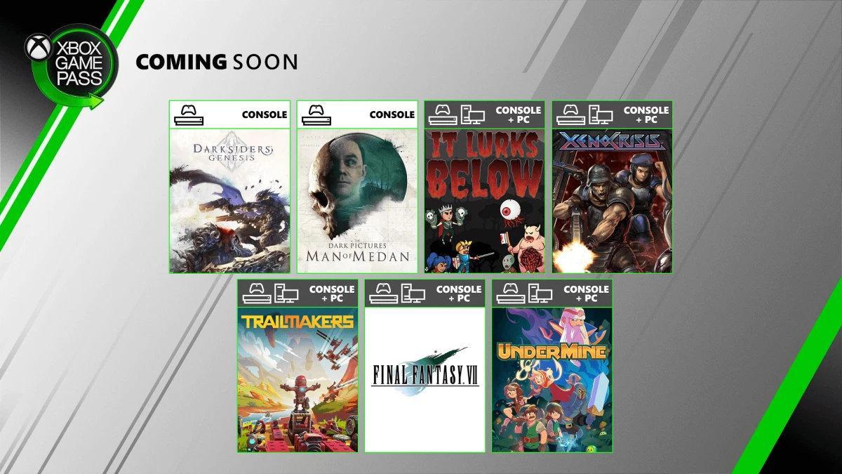 Xbox Game Pass 8月新增遊戲公佈 含《最終幻想7》