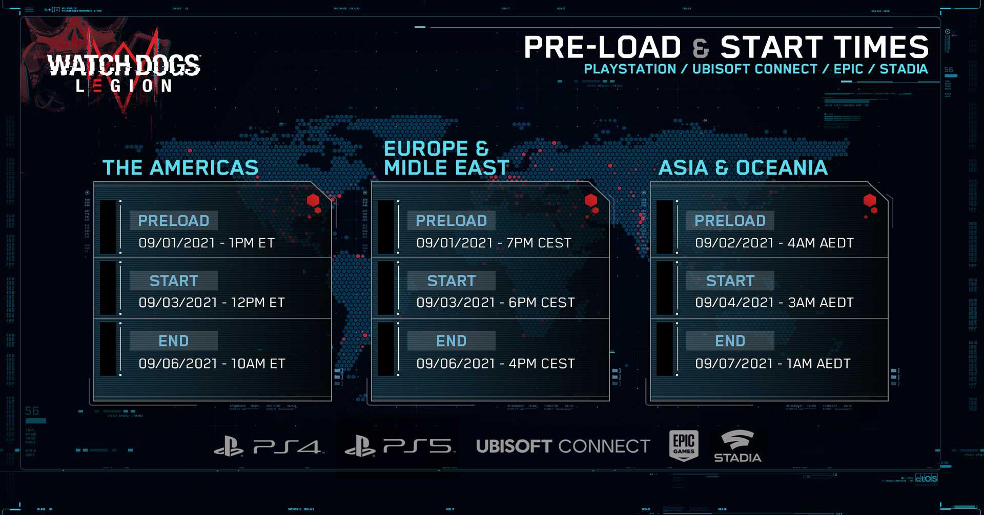 《看門狗:軍團》9月4日開啟免費試玩 不支援Xbox平臺